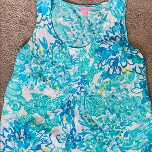 NWOT LILLY PULITZER DAHLIA TOP SZ. LARGE